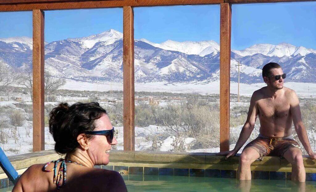 A hot pool at Joyful Journey Hot Springs • Photo courtesy of Joyful Journey