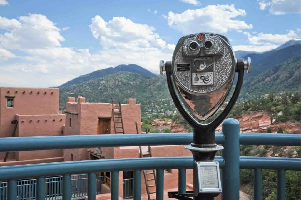 A scenic overlook at Manitou Cliff Dwellings • Photo courtesy of Manitou Cliff Dwellings