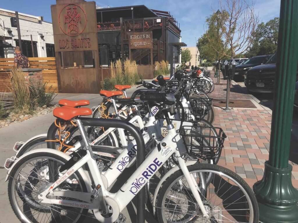 Pike Ride is the first (and only) bike share system in Colorado Springs • Photo courtesy of Pike Ride