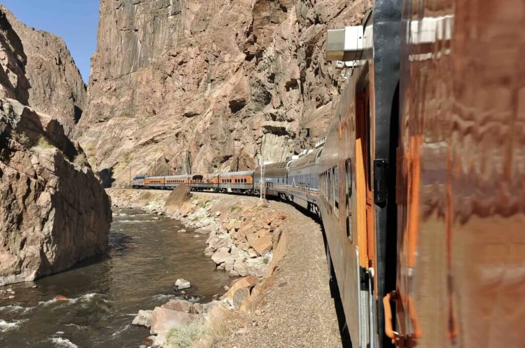 The Royal Gorge Railroad offers a beautiful and breathtaking experience