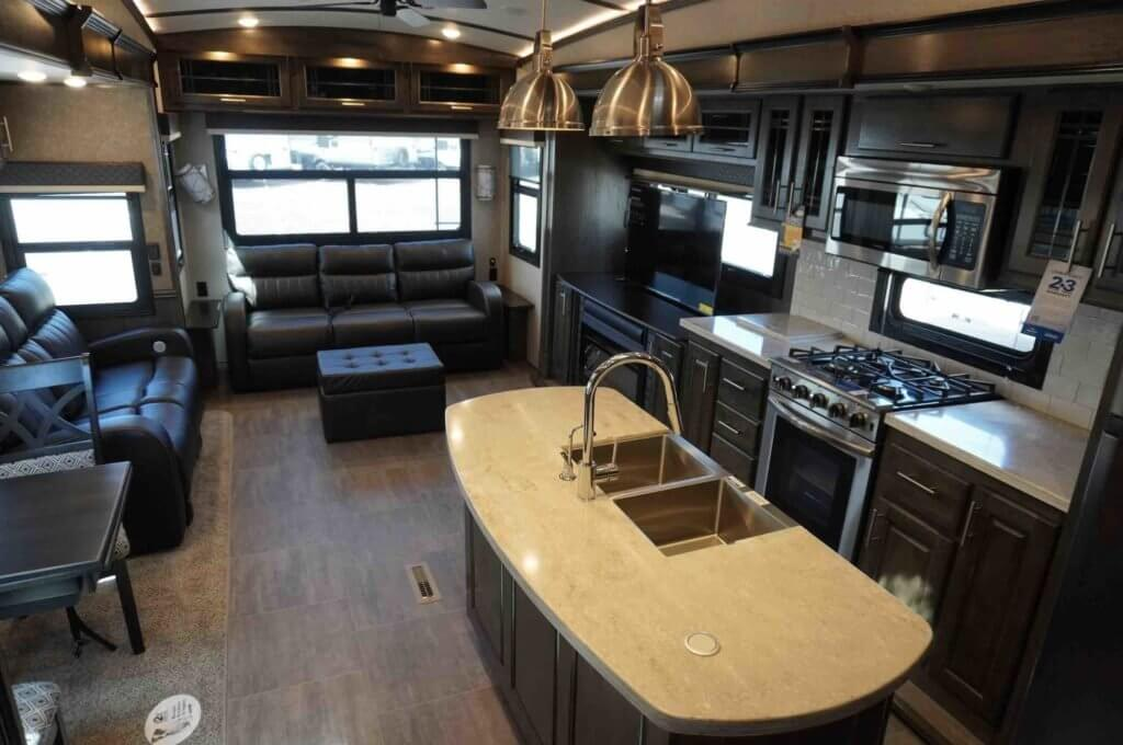 Interior of a Jayco Pinnacle 36KPTS Interior • Photo courtesy of Windish RV Center