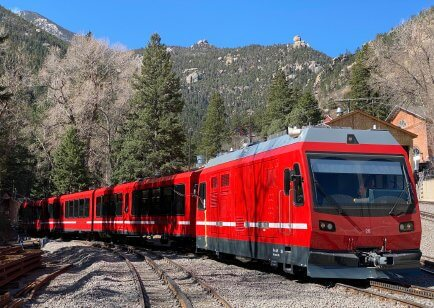 The Broadmoor Manitou Springs Cog Railway reopened in 2021. Photo courtesy of VisitCOS